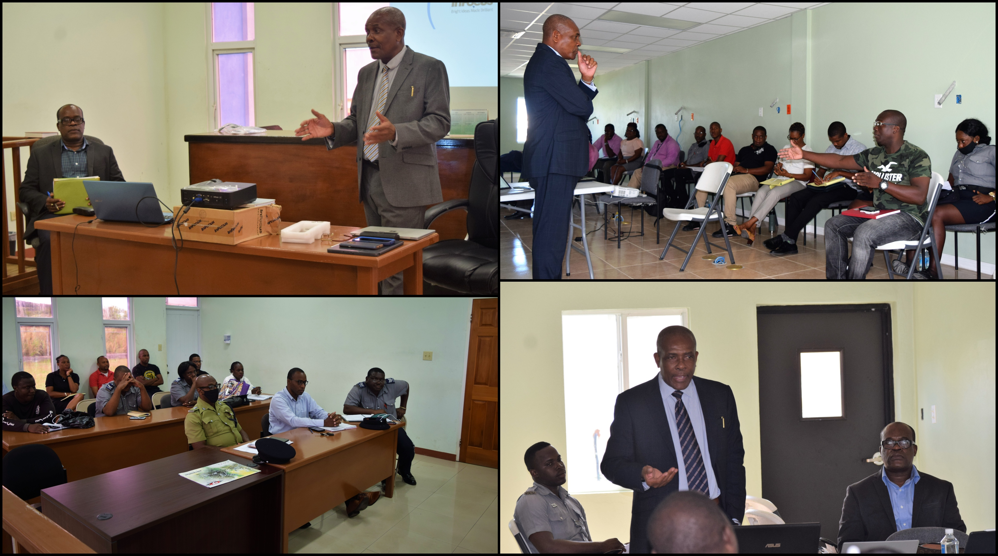 DPP conducting Committal Proceedings training with prosecutors and investigators from Division 'A' and 'B'.
