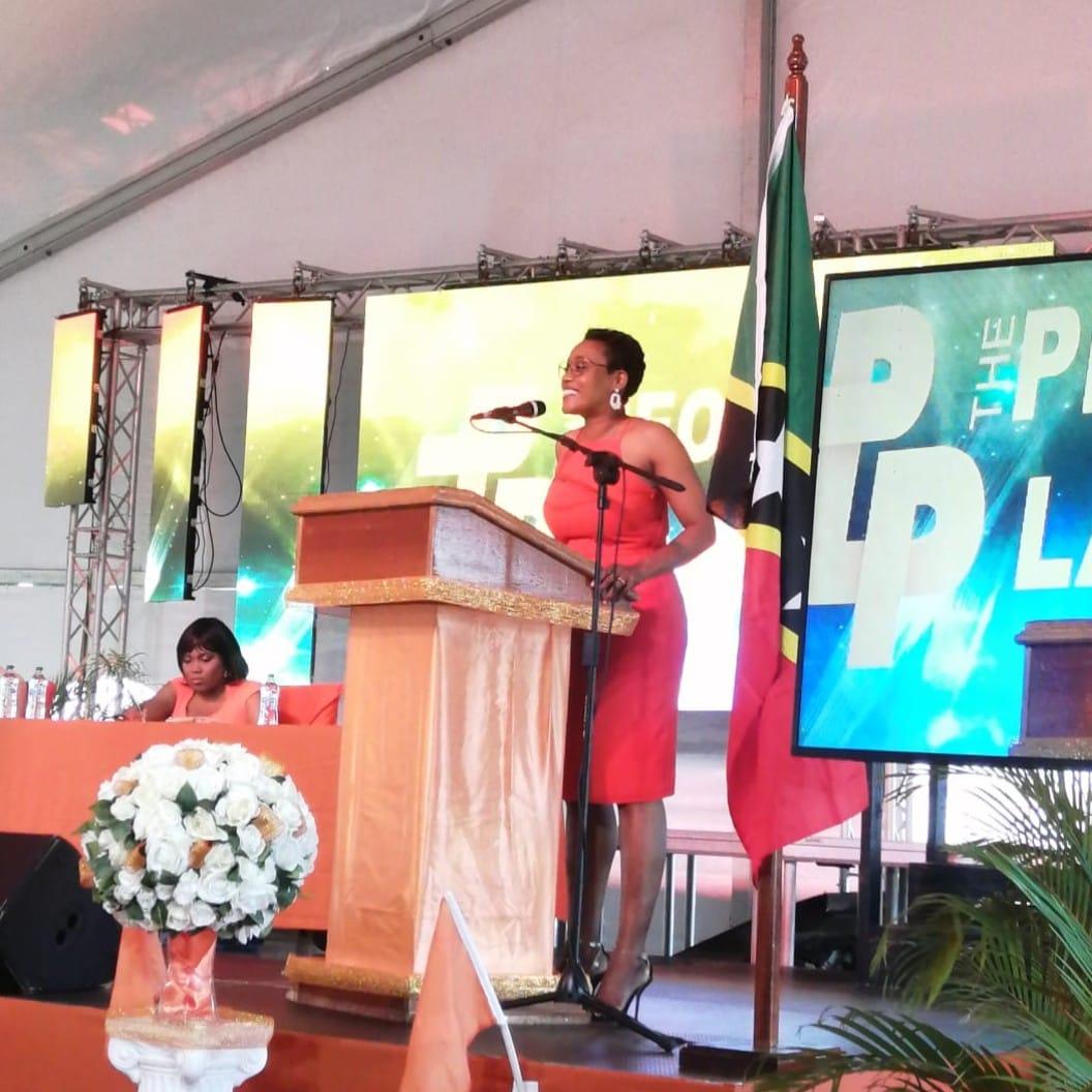 Hon AKilah at PLP convention